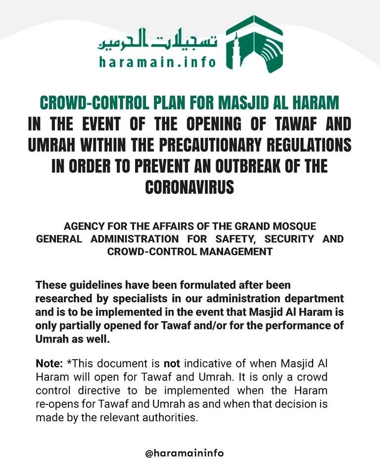 Rencana Pengendalian Jamaah di Masjidil Haram