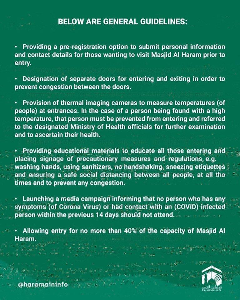 Pedoman Umum Rencana Pengendalian Jamaah di Masjidil Haram